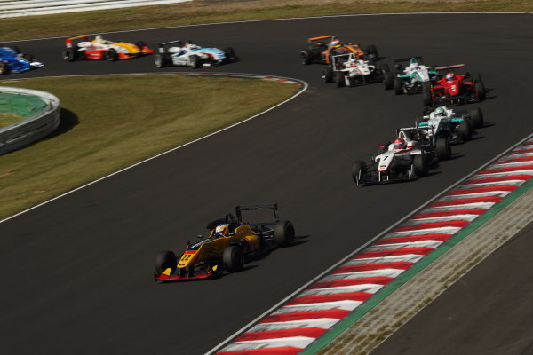 2014 All-Japan F3 Championship. Sugo, Japan. 27th - 28th September 2014. Rd 6. Race 2 - Start of the race action World Copyright: Yasushi Ishihara / LAT Photographic. Ref:  2014JF3_Rd12&13_006.JPG