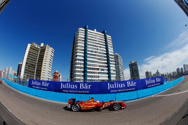 2014 FIA Formula E Championship. Punta del Este ePrix, Uruguay. Antonio Garcia (ESP)/China Racing - Spark-Renault SRT_01E. Photo: Zak Mauger/LAT/FE ref: Digital Image _L0U0981