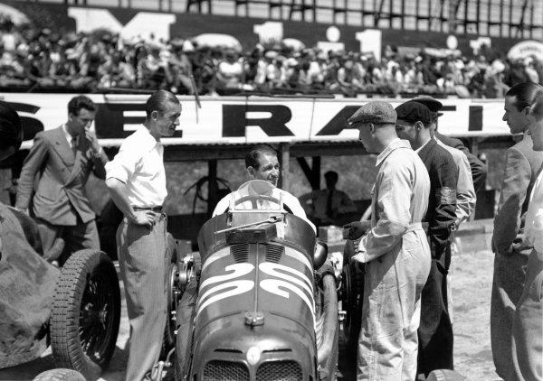 1935 French Grand Prix.Montlhery, France. 23 June 1935.Raymond Sommer, Maserati 8CM, 6th position.World Copyright - LAT Photographic