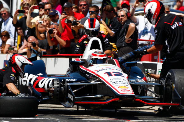 23 May, 2014, Indianapolis, Indiana, USA Will Power makes a run in the pit stop challenge ©2014, Phillip Abbott LAT Photo USA