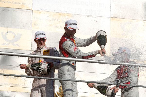 2017 DTM Round 9  Hockenheimring, Germany  Sunday 15 October 2017. Podium: René Rast, Audi Sport Team Rosberg, Audi RS 5 DTM  World Copyright: Alexander Trienitz/LAT Images ref: Digital Image 2017-DTM-HH2-AT2-2064