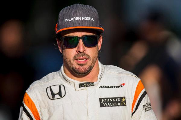 Sepang International Circuit, Sepang, Malaysia. Saturday 30 September 2017. Fernando Alonso, McLaren. World Copyright: Zak Mauger/LAT Images  ref: Digital Image _X0W8071