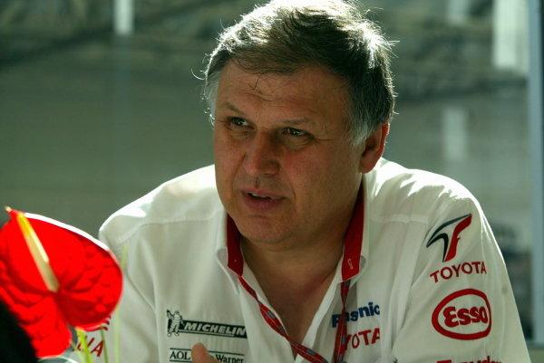 Norbert Kreyer (GER) Toyota Senior General Manager of Race and Test EngineeringFormula One World Championship, Rd5, Spanish Grand Prix, Barcelona, Spain, 2 May 2003.DIGITAL IMAGE