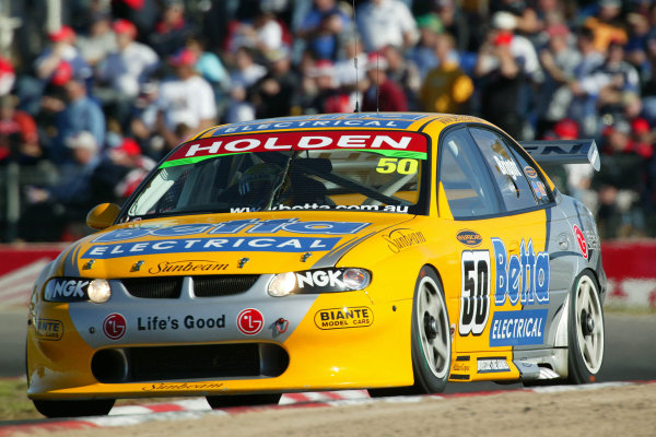 2003 Australian V8 Supercars Round 4 Winton, Victoria 25th May 2003:Holden driver Jason Bright in action during Round 4 of the V8 Supercars at Winton, Victoria Australia. Bright finshed 2nd and remains the championship leader.World Copyright: Mark Horsburgh/LAT Photographic