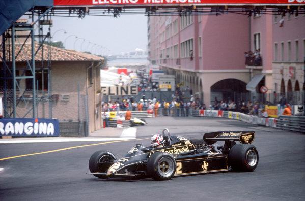 1982 Monaco Grand PrixMonte Carlo, Monaco. 20th - 23rd May.Nigel Mansell (Lotus 91-Ford) on his way to finishing fourth.World Copyright: LAT Photographicref: 82 MON 57