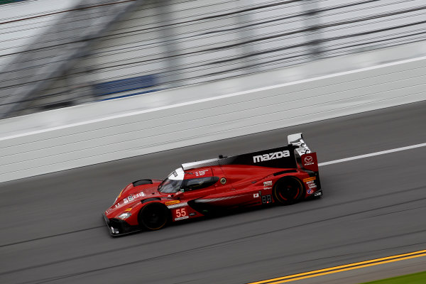 2017 Rolex 24 Hours. Daytona, Florida, USA Thursday 26 January 2017. #55 Mazda Motorsports Mazda DPi: Jonathan Bomarito, Tristan Nunez, Spencer Pigot World Copyright: Alexander Trienitz/LAT Images ref: Digital Image 2017-24h-Daytona-AT2-1408