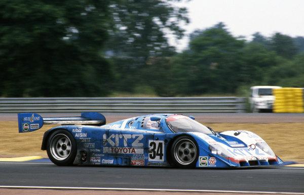 Roland Ratzenberger (AUT) / Eje Elgh (SWE) / Eddie Irvine (GBR) TOM's / Kitz Racing with SARD Toyota 92C-V, finished ninth. Sportscar World Championship, Rd3, 24 Hours of Le Mans, Le Mans, France, 20-21 June 1992.