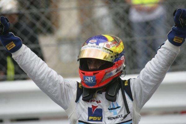 2007 GP2 Series. Round 3. Saturday Race.Monte-Carlo, Monaco. 26th May 2007.Pastor Maldonado (VEN, Trident Racing) celebrates his GP2 Series victory. World Copyright: Andrew Ferraro/GP2 Series Media Service ref: Digital ImageZP9O1114