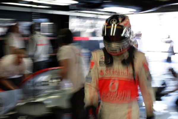 2007 Italian Grand Prix - Saturday QualifyingAutodromo di Monza, Monza, Italy.8th September 2007.Lewis Hamilton, McLaren MP4-22 Mercedes. Portrait. Helmets. World Copyright: Steven Tee/LAT Photographicref: Digital Image YY2Z8488