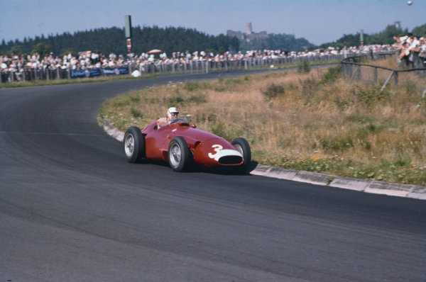 Nurburgring, Germany. 2-4 August 1957. Harry Schell, Maserati 250F, 7th position. Ref: 57GER05. World Copyright - LAT Photographic