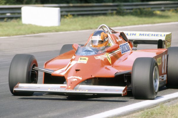 1981 Belgian Grand Prix.Zolder, Belgium. 15-17 May 1981.Gilles Villeneuve (Ferrari 126C), 4th position.World Copyright: LAT PhotographicRef: 35mm transparency 81BEL16