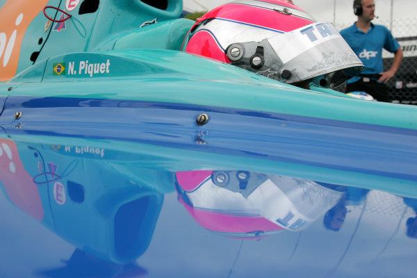 2005 GP2 Series - Great BritainSilverstone , England8th - 10th July 2005Friday QualifyingNelson Piquet Jr. (BR, Hitech Piquet Racing). Portrait. World Copyright: GP2 Series Media Service ref: Digital Image Only