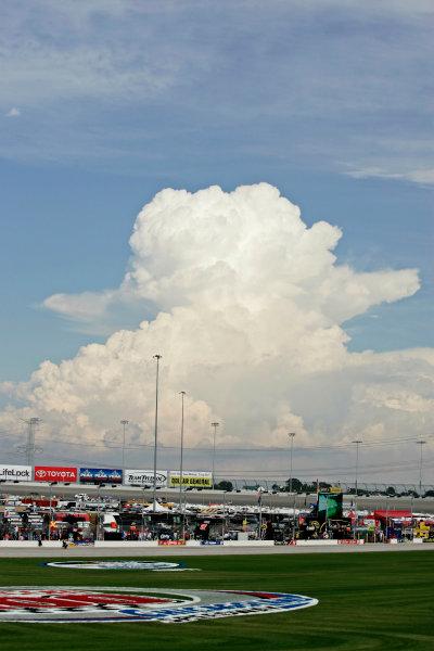 10-12 July, 2008, Joliet, Illinois, USA.An impressive thunderhead builds near the Chicagoland Speedway.© 2008 Phillip Abbott/USALAT Photographic