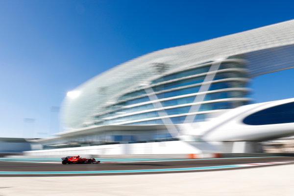 Yas Marina Circuit, Abu Dhabi, United Arab Emirates. Wednesday 29 November 2017. Sebastian Vettel, Ferrari SF70H.  World Copyright: Zak Mauger/LAT Images  ref: Digital Image _O3I1789