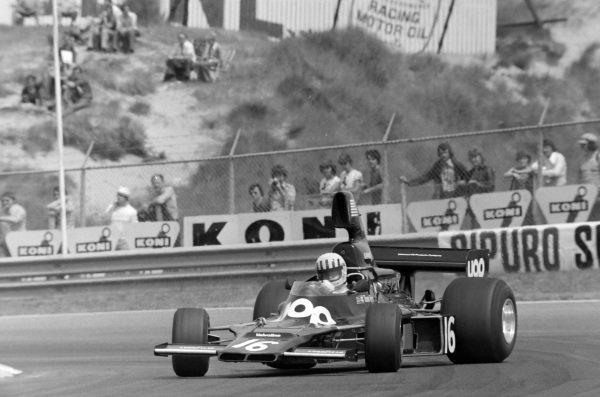 Tom Pryce, Shadow DN5 Ford, gets totally sideways.