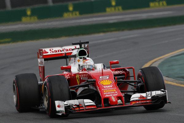 Sebastian Vettel (GER) Ferrari SF16-H at Formula One World Championship, Rd1, Australian Grand Prix, Race, Albert Park, Melbourne, Australia, Sunday 20 March 2016.