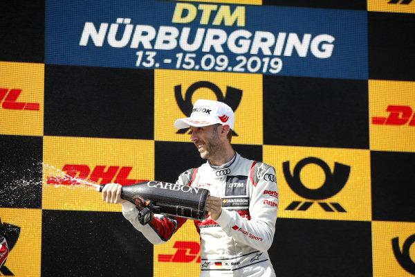 Podium: René Rast, Audi Sport Team Rosberg.