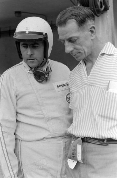 Jack Brabham with Ron Tauranac.