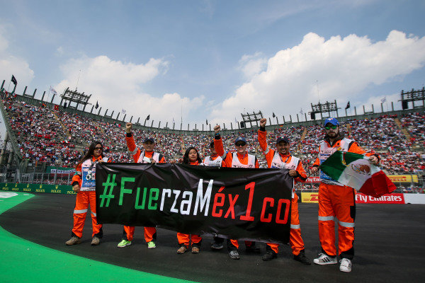 Marshals at Formula One World Championship, Rd18, Mexican Grand Prix, Race, Circuit Hermanos Rodriguez, Mexico City, Mexico, Sunday 29 October 2017.