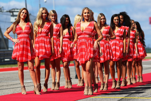 Grid girls at Formula One World Championship, Rd17, United States Grand Prix, Race, Circuit of the Americas, Austin, Texas, USA, Sunday 22 October 2017.