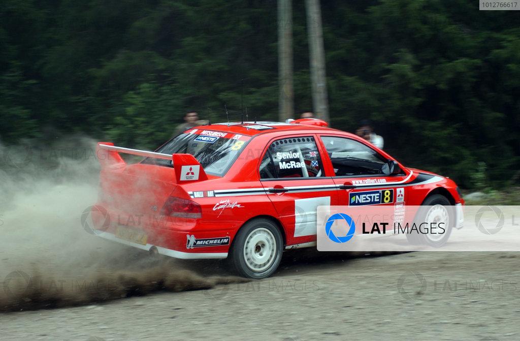 2002 World Rally Championship.Neste Rally Finland, Jyvaskyla Finland, August 8-11th.Alister McRae during shakedown.Photo: Ralph Hardwick/LAT