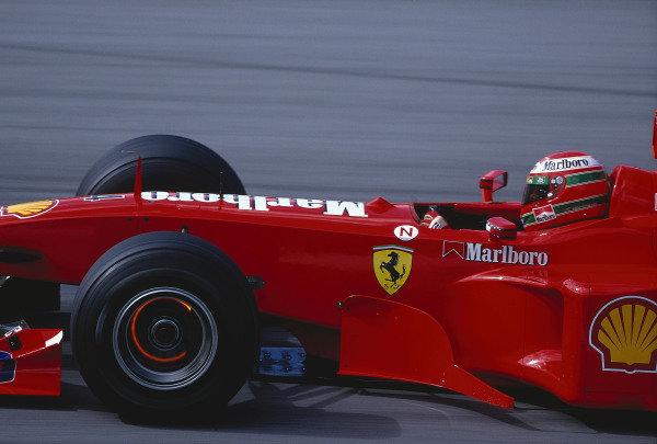1999 Austrian Grand Prix.A1 Ring, Zeltweg, Austria.23-25 July 1999.Eddie Irvine (Ferrari F399) 1st position.Ref-99 AUT 67.World Copyright - LAT Photographic