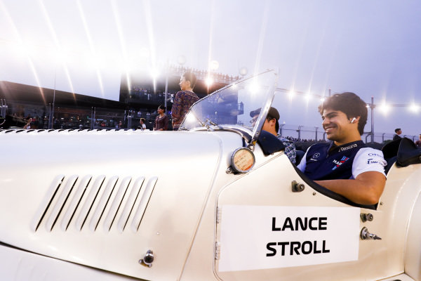 Lance Stroll, Williams Racing, on the drivers' parade