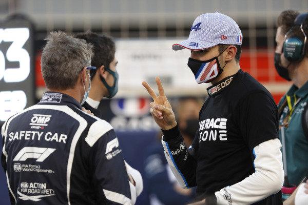 Bernd Maylander, Safety Car Driver, FIA, and Esteban Ocon, Alpine F1
