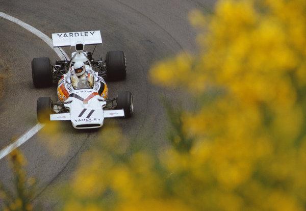 Brian Redman, McLaren M19A Ford, during practice.