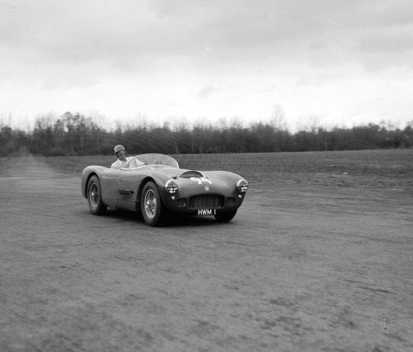 George Abecassis (HWM-Jaguar, registration HWM1).Ref-Motor 769/3.World Copyright - LAT Photographic