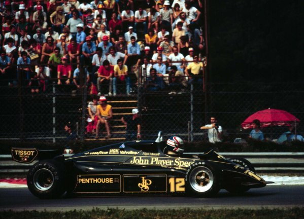 1982 Italian Grand Prix.Monza, Italy.10-12 September 1982.Nigel Mansell (Lotus 91 Ford) 7th position. 