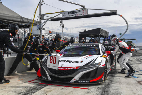 #80 Acura NSX of Martin Barkey and Kyle Marcelli with Racers Edge Motorsports