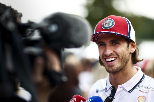 Antonio Giovinazzi, Alfa Romeo Racing speaks to the media