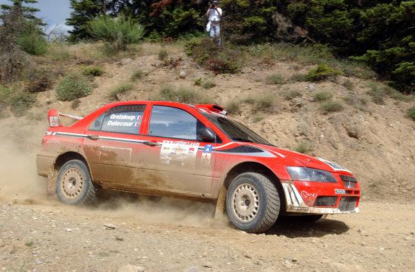 World Rally Championship, Acropolis Rally, June 13-16, 2002.Francois Delecour on stage 1.Photo: Ralph Hardwick/LAT