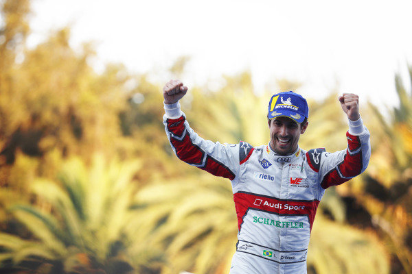 Lucas Di Grassi (BRA), Audi Sport ABT Schaeffler, celebrates on the podium