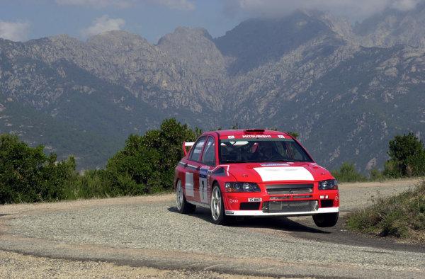 2001 World Rally Championship.Rallye de France, Ajaccio, Corsica, October 19-21.Tommi Makinen during shakedown.Photo: Ralph Hardwick/LAT