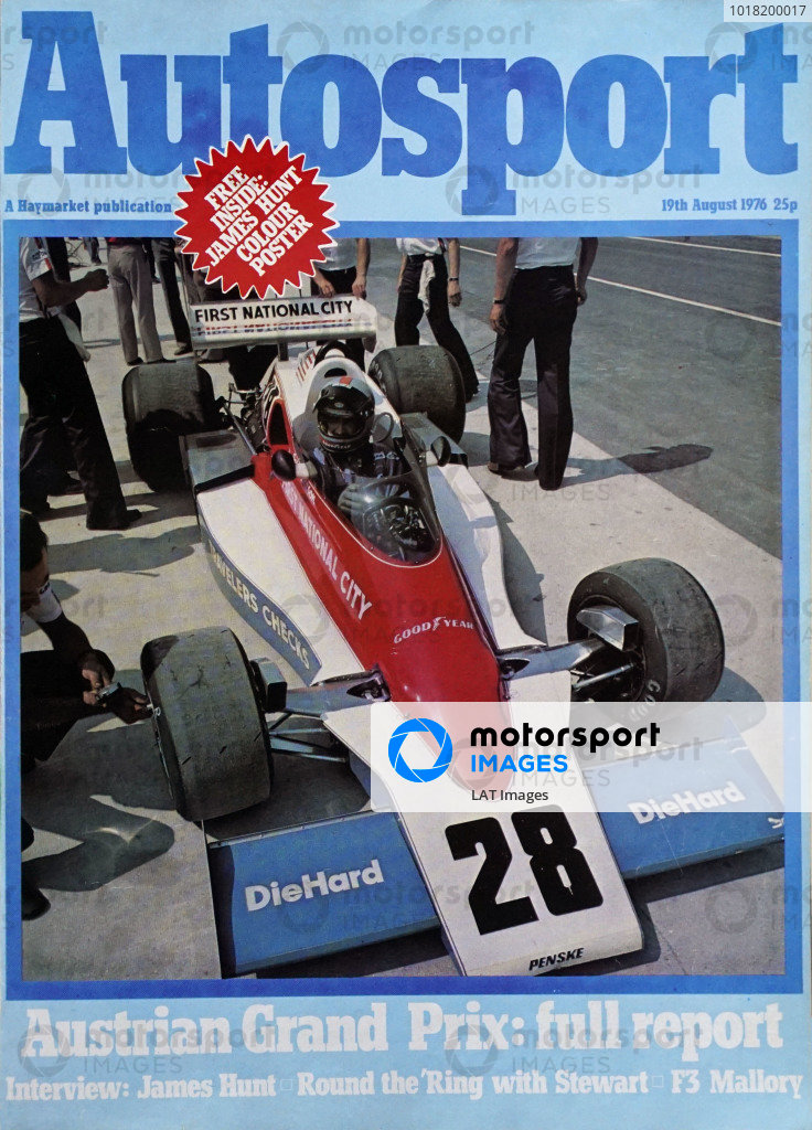 Cover of Autosport magazine, 19th August 1976