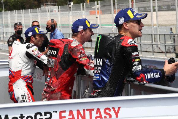 Polesitter Fabio Quartararo, Yamaha Factory Racing, Jack Miller, Ducati Team.