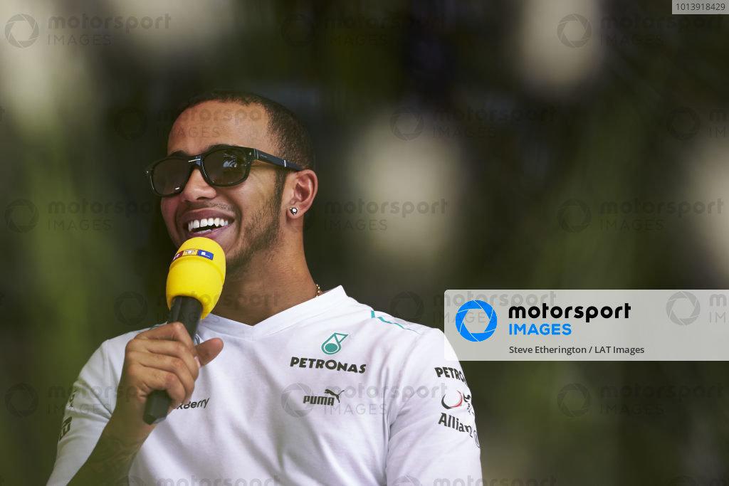 n Thursday 18th April 2013. Lewis Hamilton, Mercedes AMG.  World Copyright: Steve Etherington/c ref: Digital Image SNE17063 copy