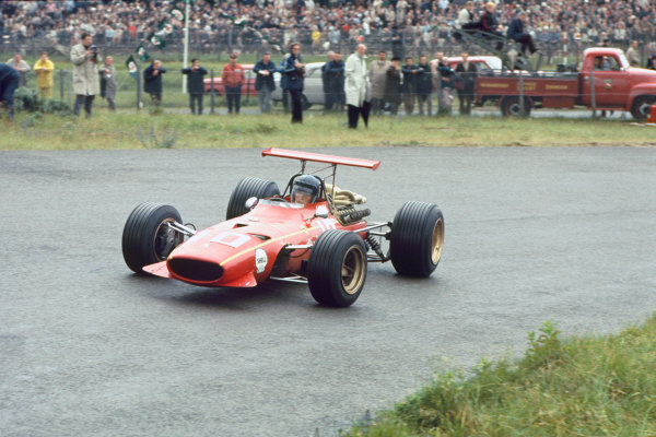 Zandvoort, Holland. 21-23 June 1968.Jacky Ickx, (Ferrari 312), 4th position, actionWorld Copyright: LAT PhotographicRef: 68HOL23.