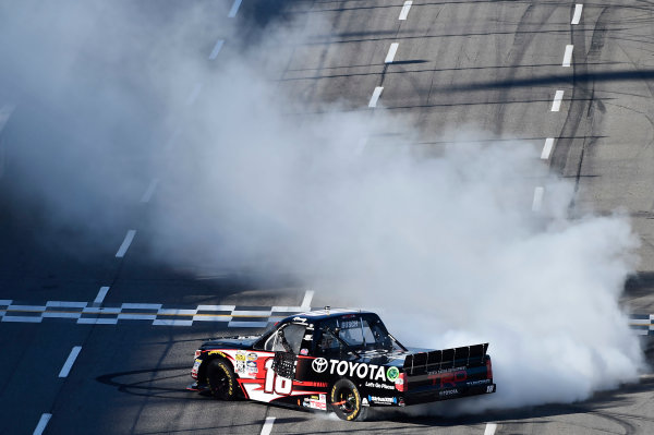 1-2 April, 2016, Martinsville, Virginia USA Kyle Busch (18) does a burnout after winning. ©2016, John Harrelson / LAT Photo USA