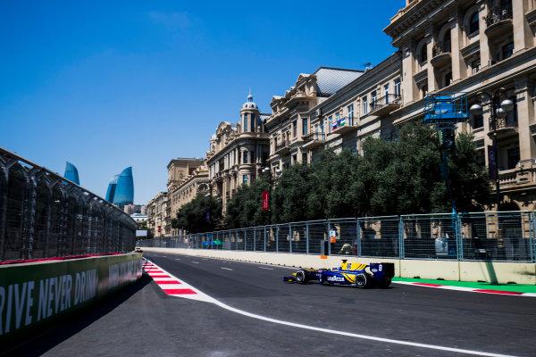 2017 FIA Formula 2 Round 4. Baku City Circuit, Baku, Azerbaijan. Friday 23 June 2017. Oliver Rowland (GBR, DAMS)  Photo: Zak Mauger/FIA Formula 2. ref: Digital Image _54I9403