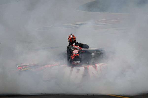 NASCAR XFINITY Series Alsco 300 Kentucky Speedway, Sparta, KY USA Saturday 8 July 2017 Kyle Busch, NOS Energy Drink Rowdy Toyota Camry celebrates with a burnout  World Copyright: Logan Whitton LAT Images
