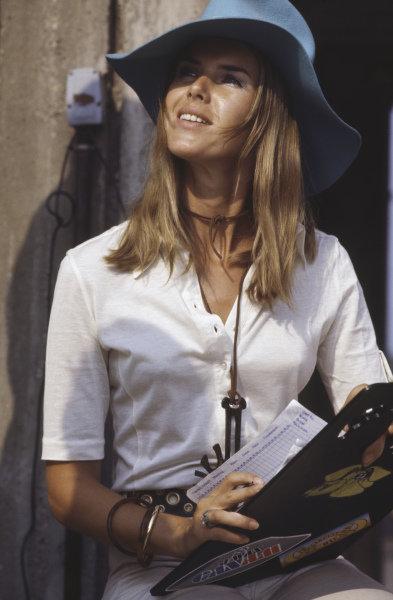 Helen Stewart timekeeping in the pits.