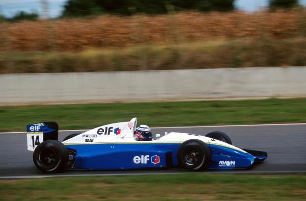 Olivier Panis (FRA) DAMS Reynard 93D Cosworth AC was punted off the track into retirement but still claimed the championship by one point.