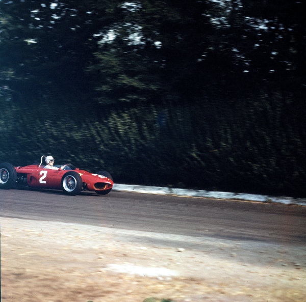 Monza, Italy.14-16 September 1962.Giancarlo Baghetti (Ferrari Dino 156) 5th position.Ref-3/0674.World Copyright - LAT Photographic