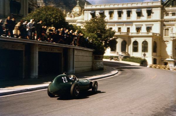 Monte Carlo, Monaco. 16-19 May 1957. Tony Brooks (Vanwall VW7) 2nd position. Ref-57 MON 16. World Copyright - LAT Photographic