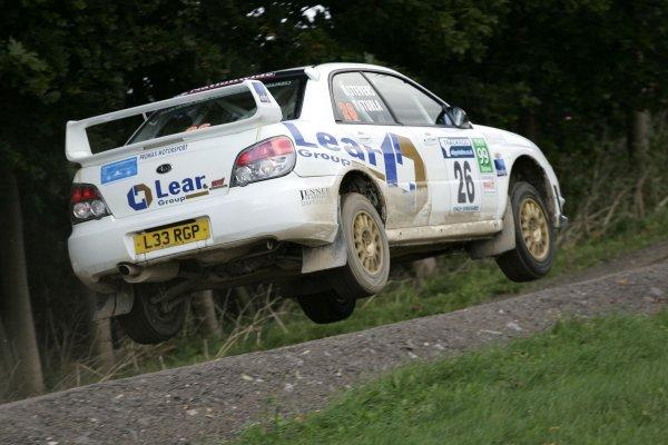 2006 British Rally ChampionshipTrackrod Rally, Yorkshire.7th October 2006Kevin Stevens and Tim SturlaWorld Copyright - Ebrey/LAT Photographic