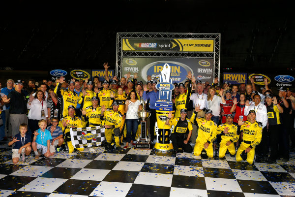 23-24 August, 2013, Bristol, Tennessee USA Matt Kenseth and team in victory lane with Toyota personnel ©2013, Lesley Ann Miller LAT Photo USA
