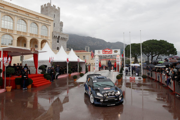 2014 World Rally Championship Monte Carlo Rally 13th - 19th January 2014 Elfyn Evans, Ford, Podium Worldwide Copyright: McKlein/LAT